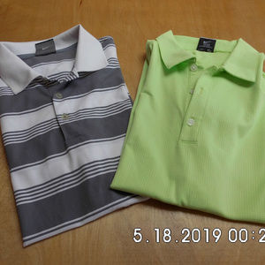 2 Men's Nike Dri-Fit Golf Polos S/S NWOT Small